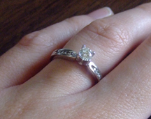 The engagement ring!