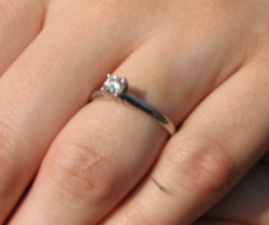 The proposal ring.